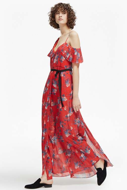 kioa drape strappy maxi dress