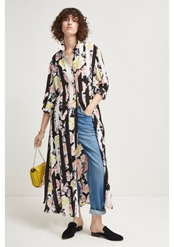 Enoshima Drape Maxi Shirt Dress