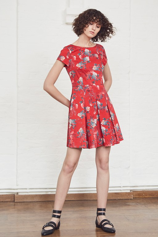 kioa cotton flared dress