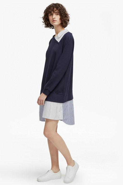 kapiti blocking jersey asymmetric tunic dress