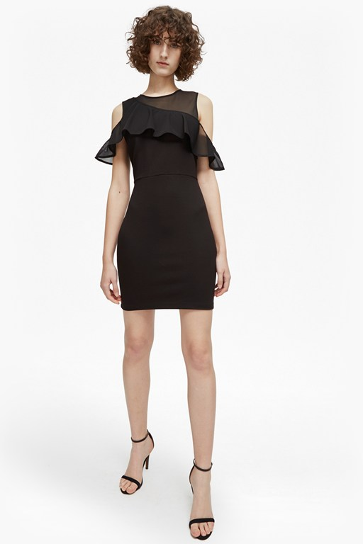 lore lula ponte cold shoulder dress