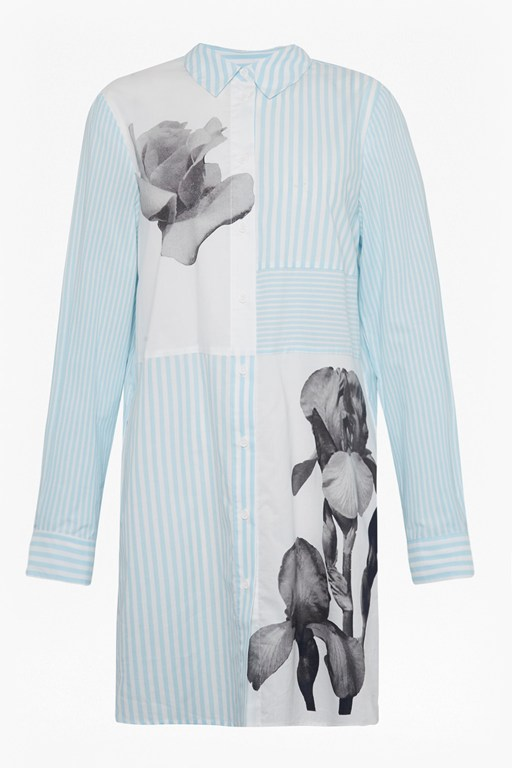 serrana stripe cotton shirt dress