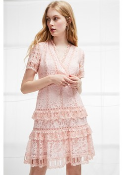 Arta Lace Ruffle Dress