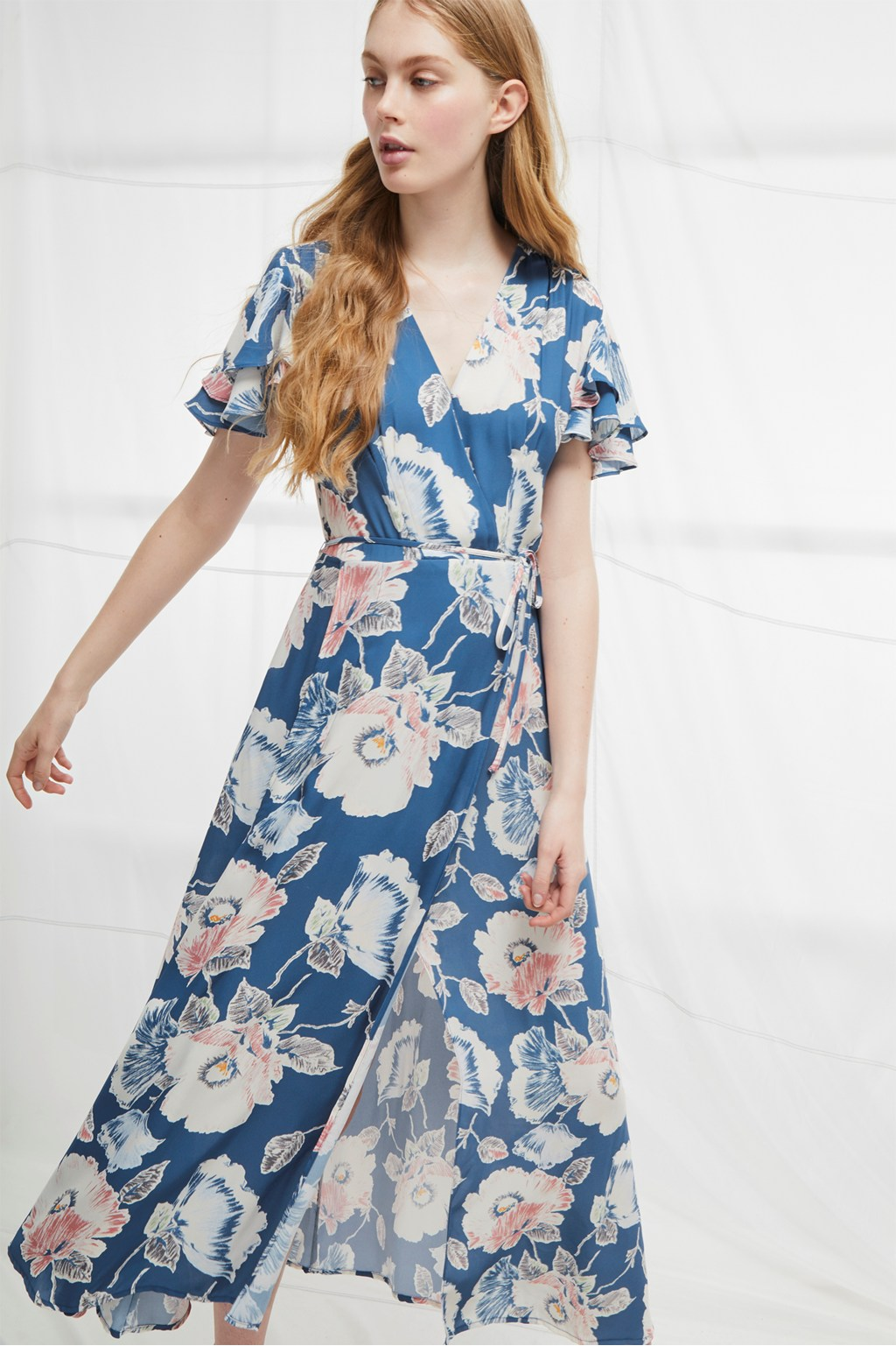 Cari Crepe Midi Tea Dress | Collections | French Connection