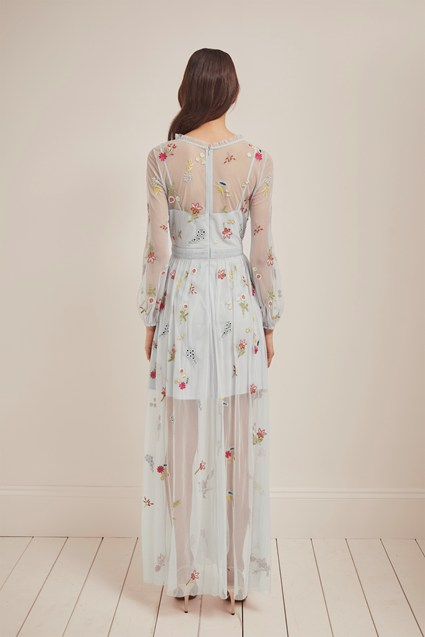 Christy Bloom Embroidered Maxi Dress   Collections   French Connection