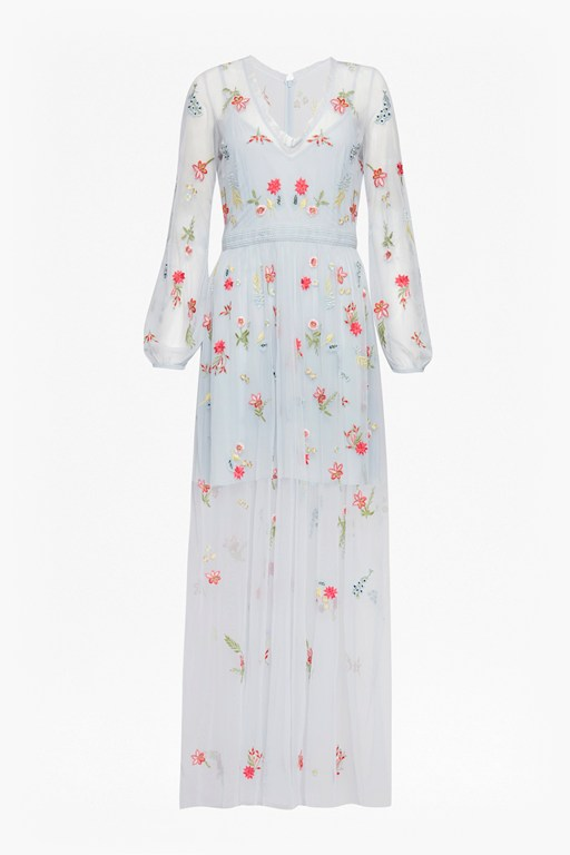 Complete the Look Christy Bloom Embroidered Maxi Dress
