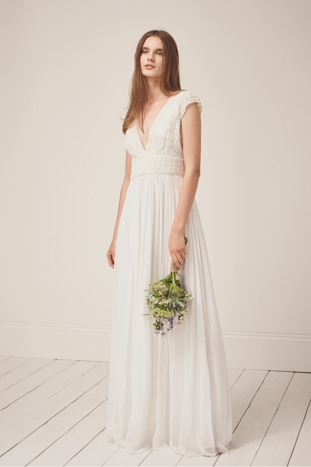 Palmero Embellished Wedding Dress   Collections   French Connection