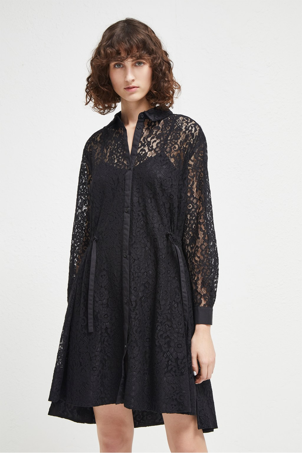 Tatus lace shirt dress collections french connection for French connection shirt dress