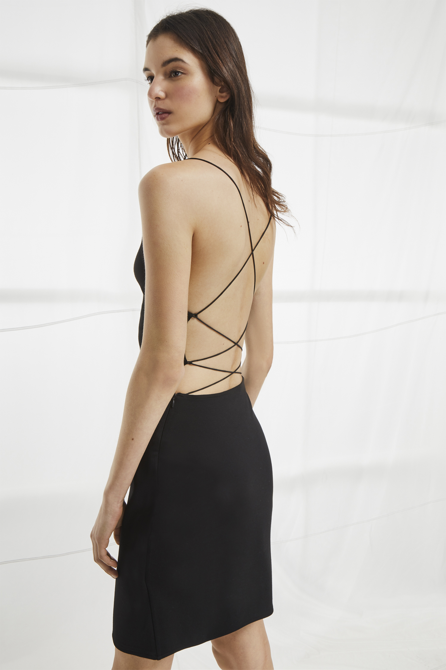 Santorini Drape Jersey Strappy Dress Last Chance French Connection