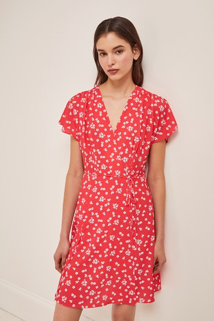 Verona Printed Wrap Dress Dresses French Connection