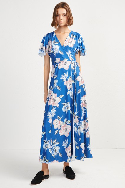 Cari Jersey Floral Midi Tea Dress