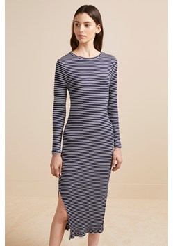 Tim Tim Rib Stripe Midi Dress
