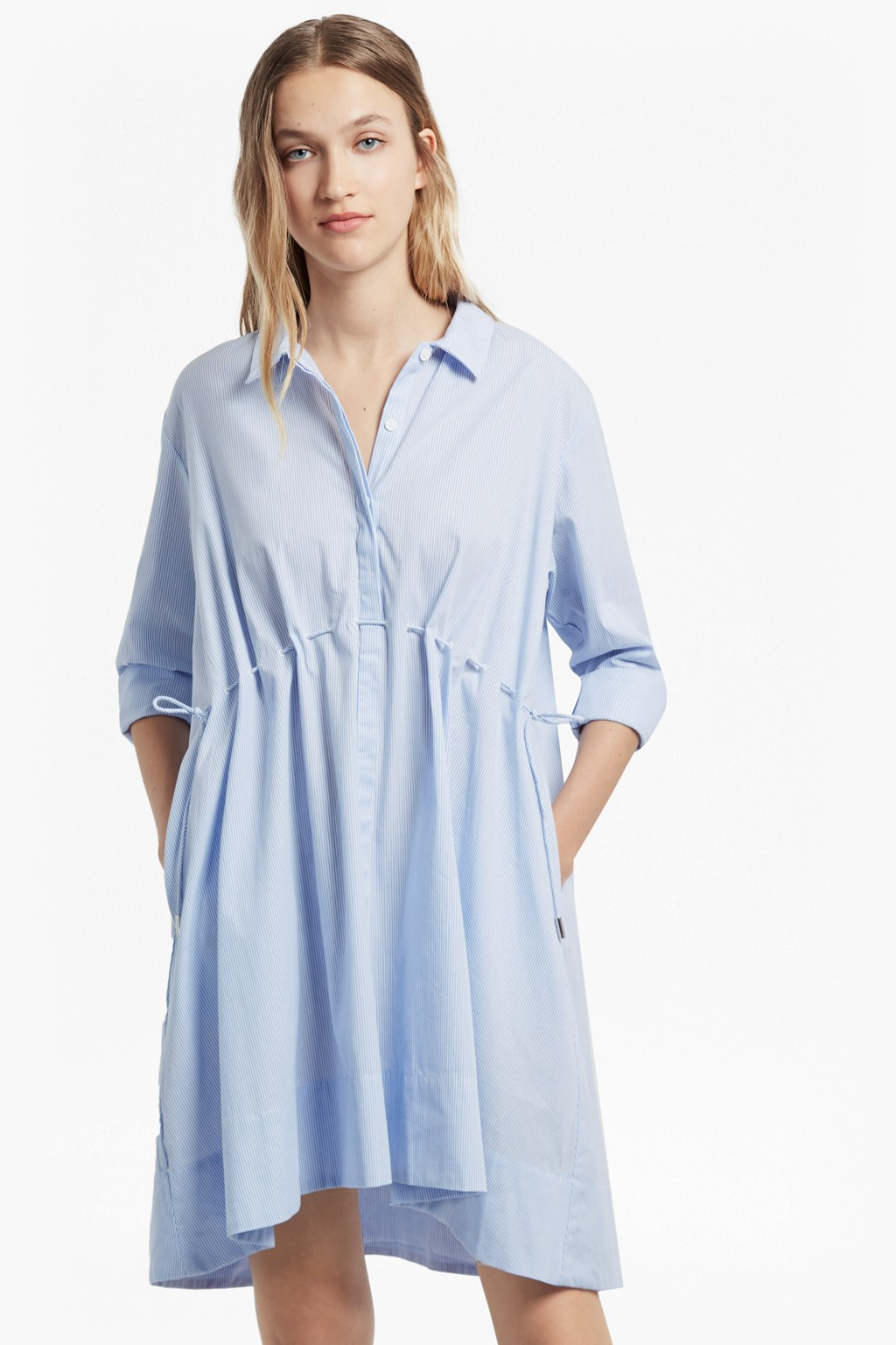 6c9771a869 Smithson Striped Cotton Shirt Dress. loading images.