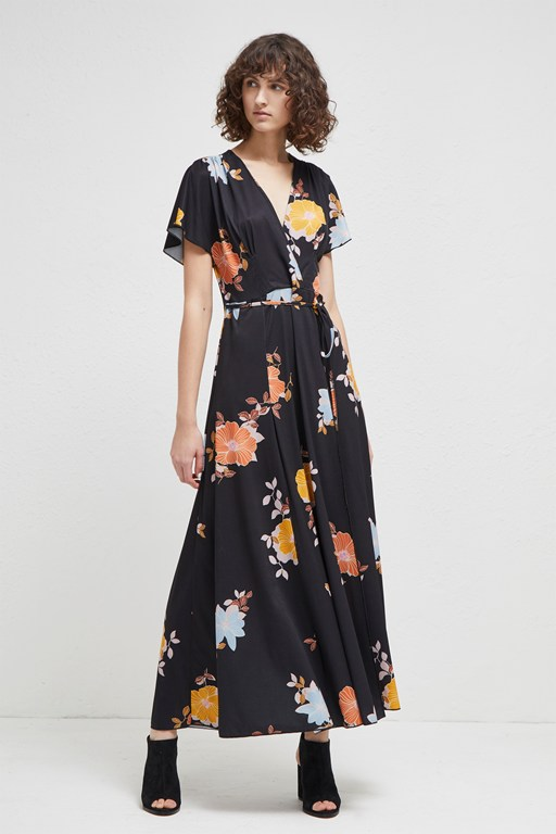 shikoku spaced jersey maxi dress