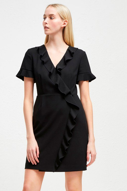 alianor stretch frill dress