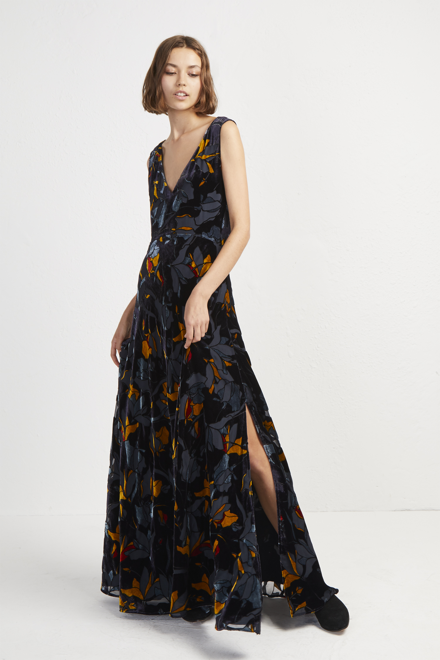 to wear - Maxi Velvet dress pictures video