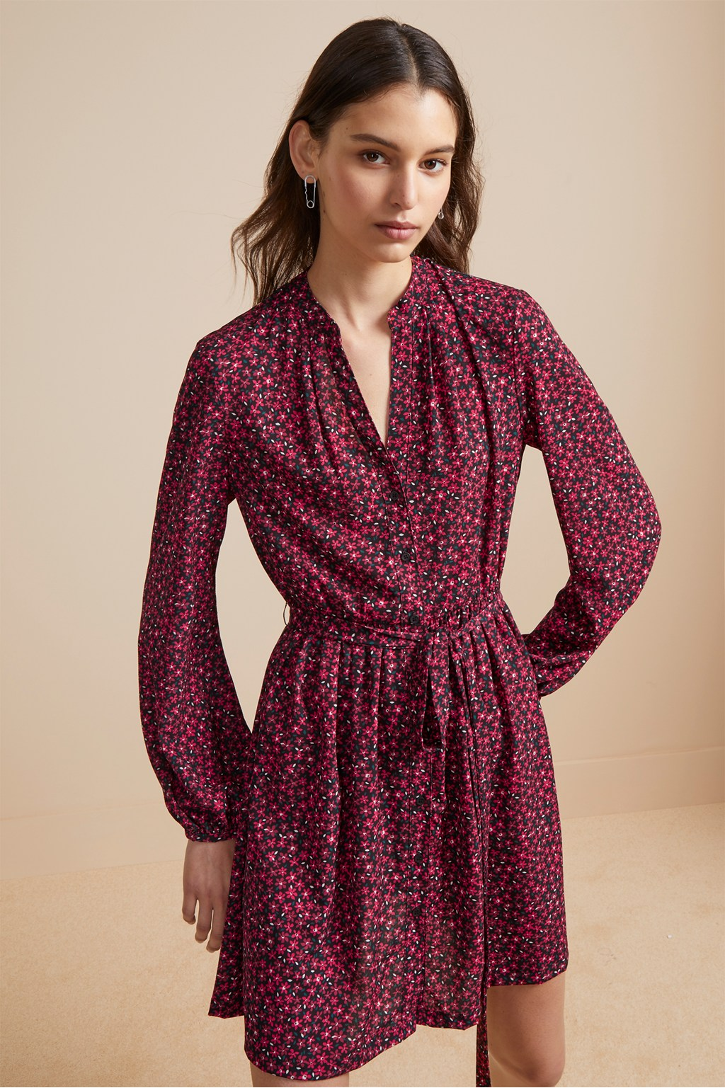 a4872b730a Aubine Fluid Floral Shirt Dress. loading images.
