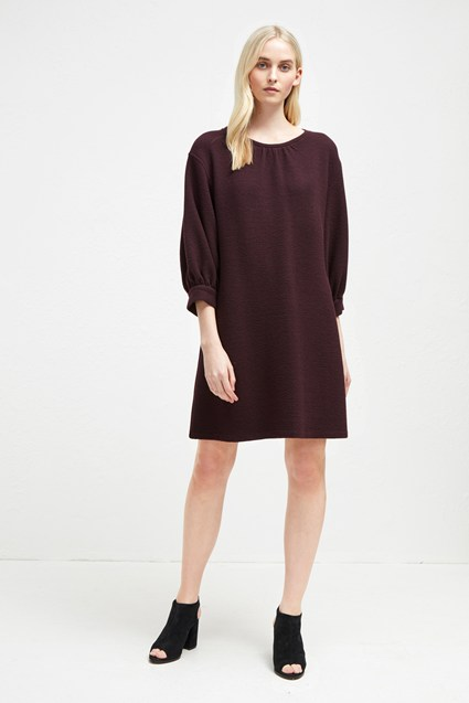 Abelena Jersey Balloon Sleeve Dress