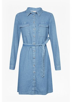 Avery Denim Belted Shirt Dress