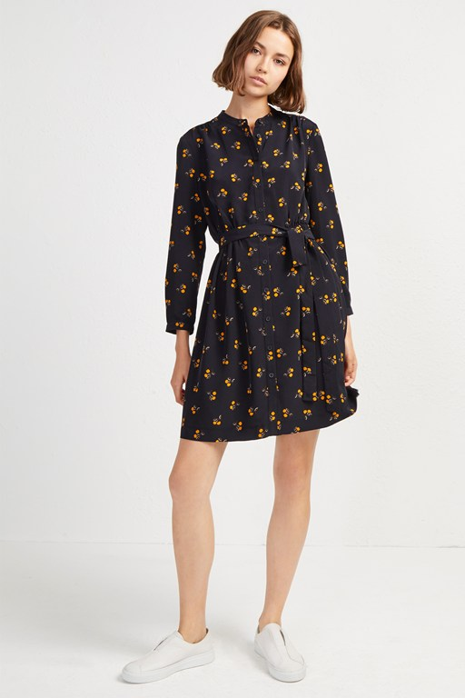 hester drape belted shirt dress