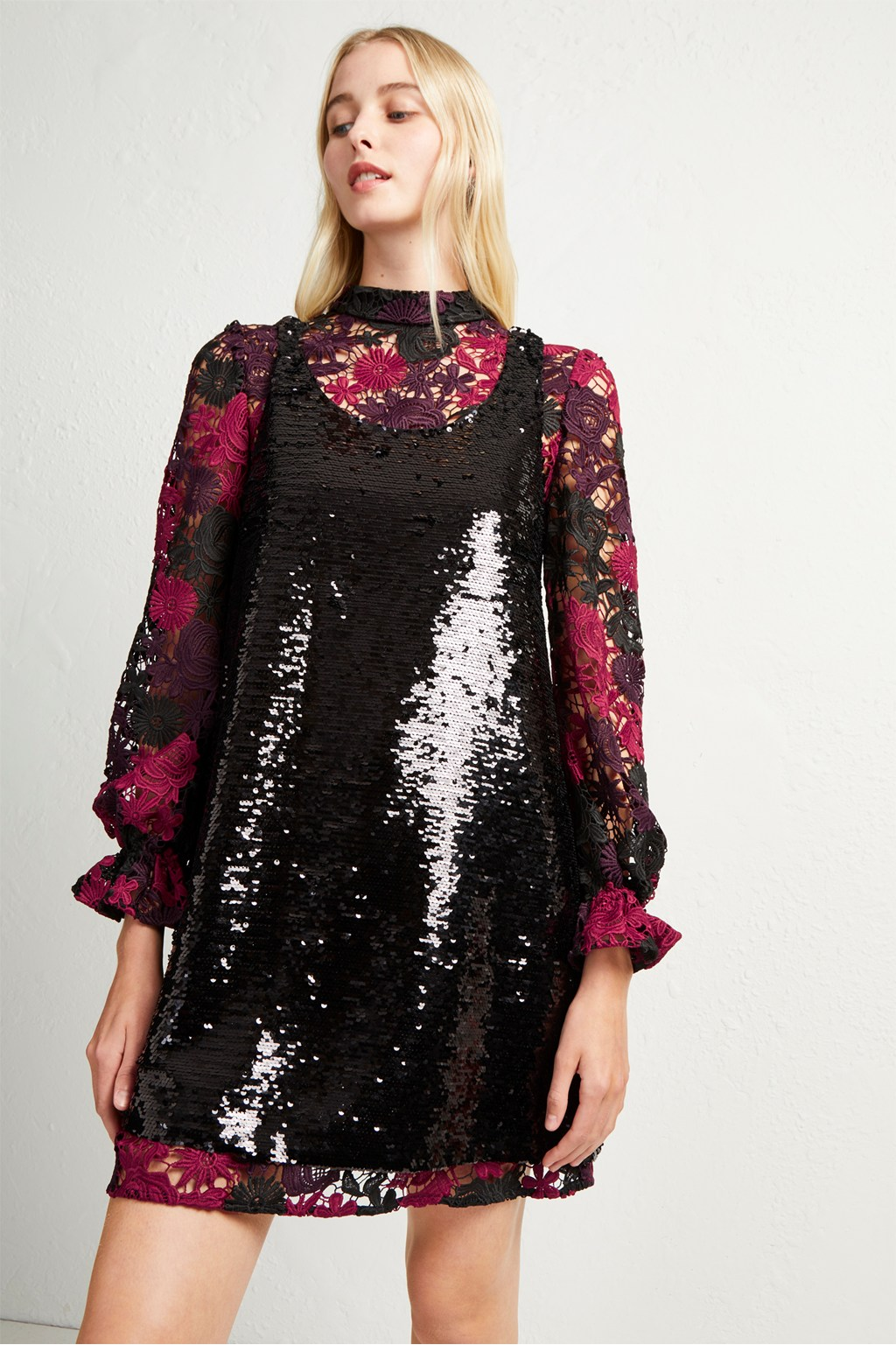 f7732281 Cynthia Lace And Sequin Dress | Collections | French Connection