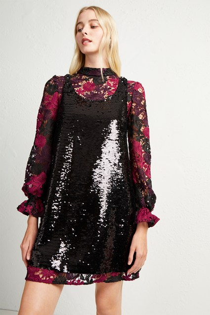 Cynthia Lace And Sequin Dress