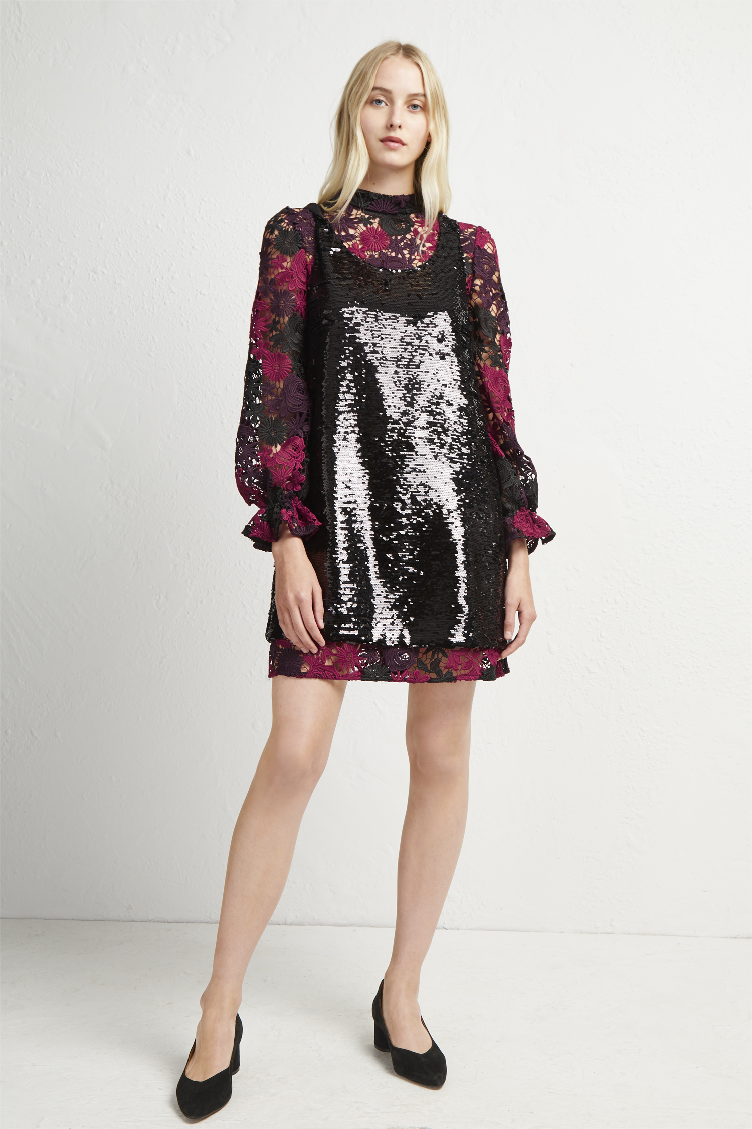 138a1ad8 Cynthia Lace And Sequin Dress | Collections | French Connection