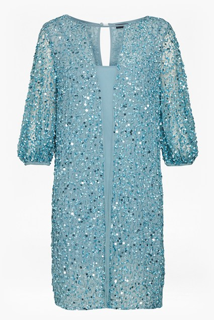 Diana Sequin Puff Sleeve Dress