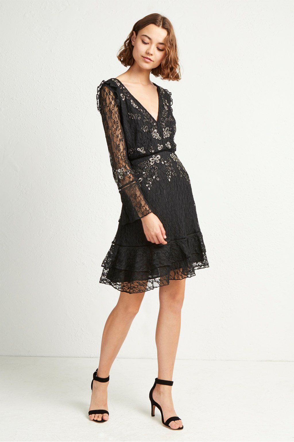 b8800178ad1 French Connection Bella Sparkle Embellished Lace Dress