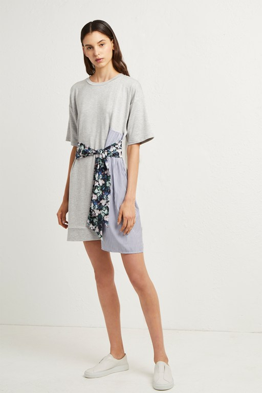 ono dreda tie mix dress