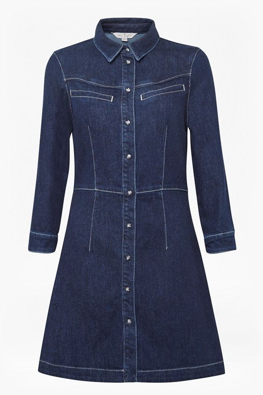 jens western denim shirt dress