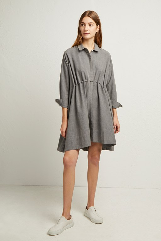 smythson gathered waist dress