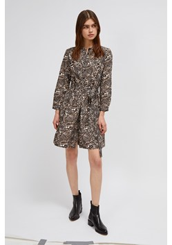 Animal Print Belted Shirt Dress