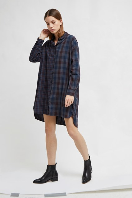 Onille Oxford Check Shirt Dress