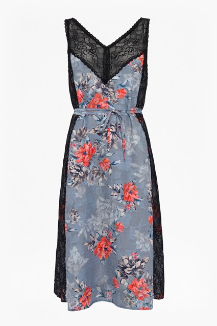 Cateline Devore Lace Slip Dress