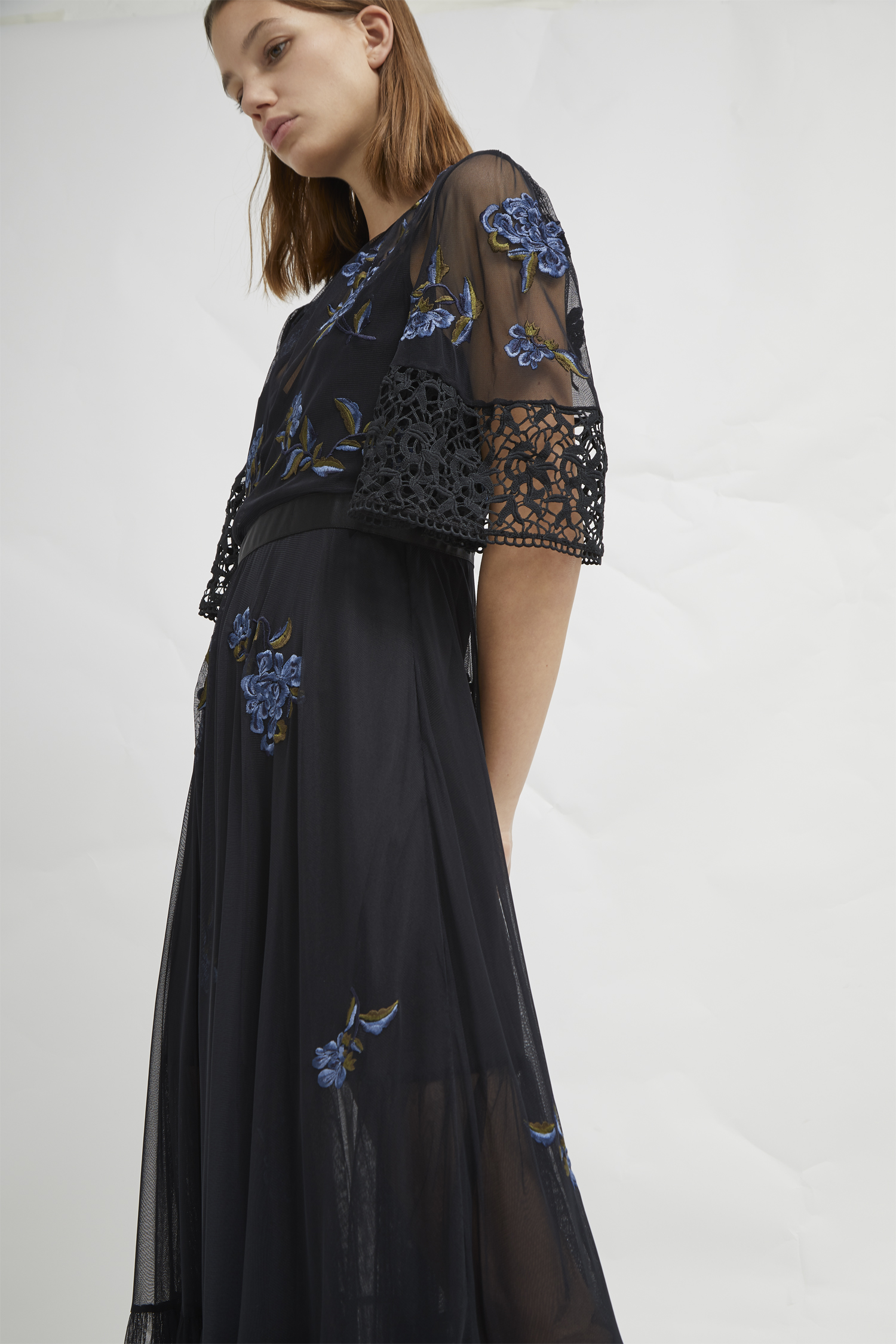 eae11a795fc Ambre Embroidered Floral Dress
