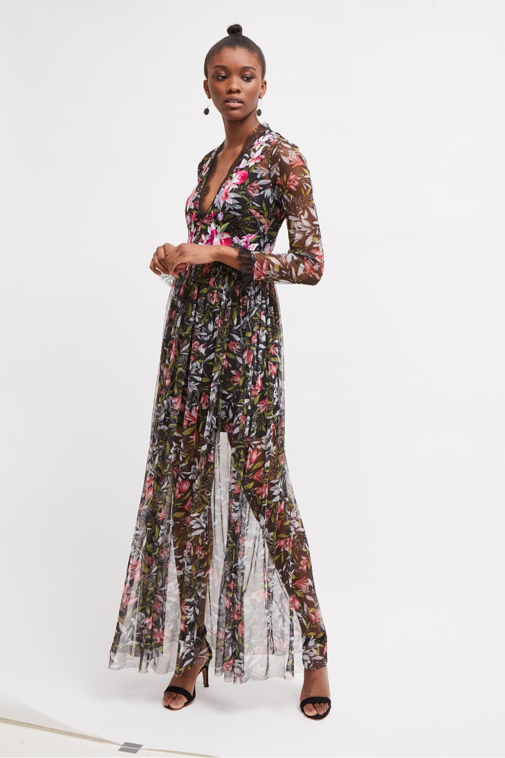 5b1280b1da9 Flori Embroidered Floral Maxi Dress. loading images.