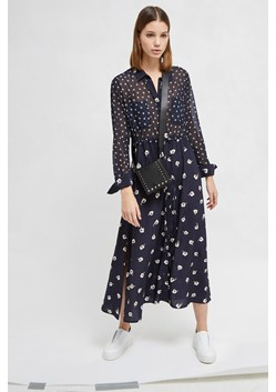 Adelise Drape Midi Shirt Dress