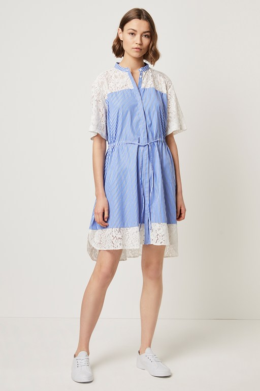 adena mix shirt dress