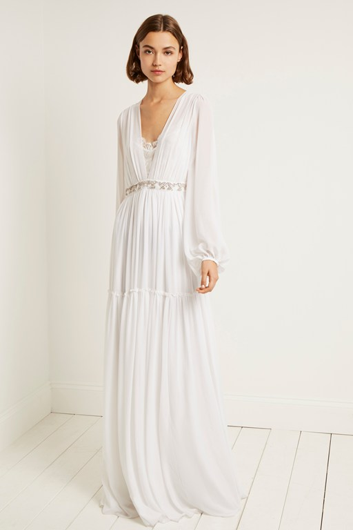 alana drape maxi wedding dress