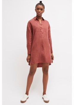 Briella Linen Blend Shirt Dress