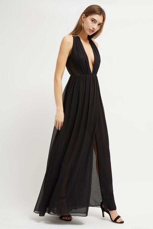 aster drape halter neck dress