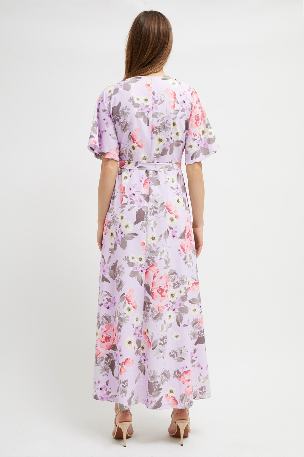 5b7db9801c ... Armoise Crepe Floral Maxi Wrap Dress. loading images.