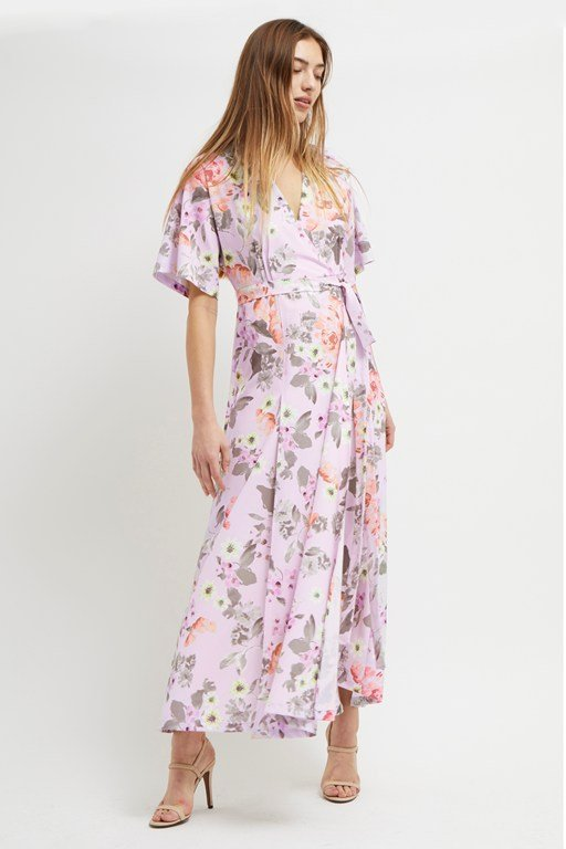0e8624dc156f armoise crepe floral maxi wrap dress
