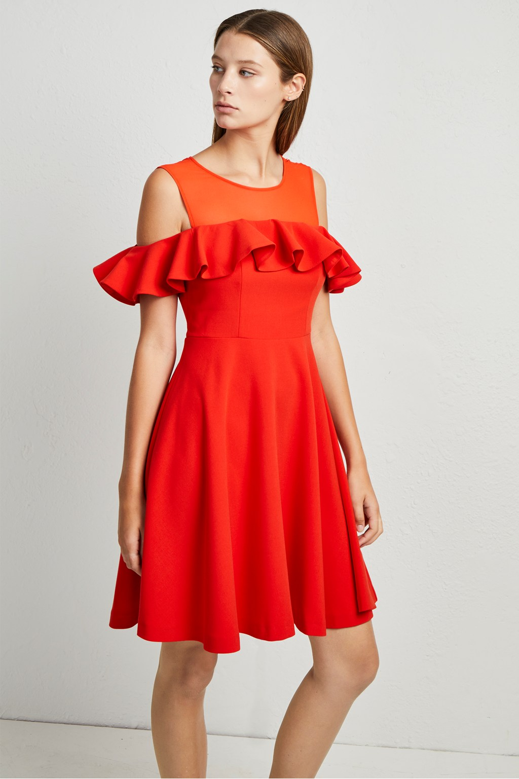 465ca07478e Alissa Flare Cold Shoulder Dress. loading images.