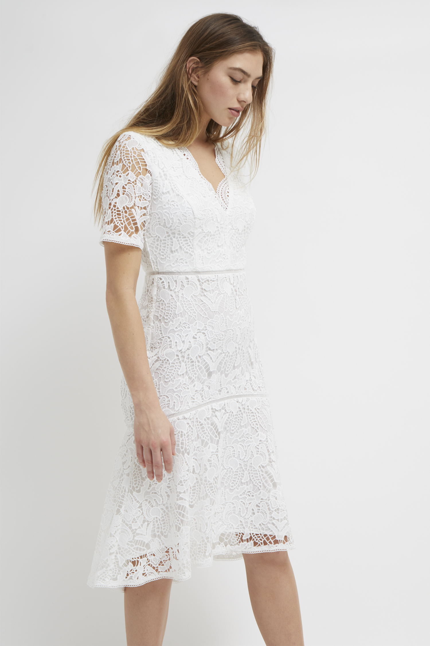 b74d918e1e6 Calli Lace V Neck Dress
