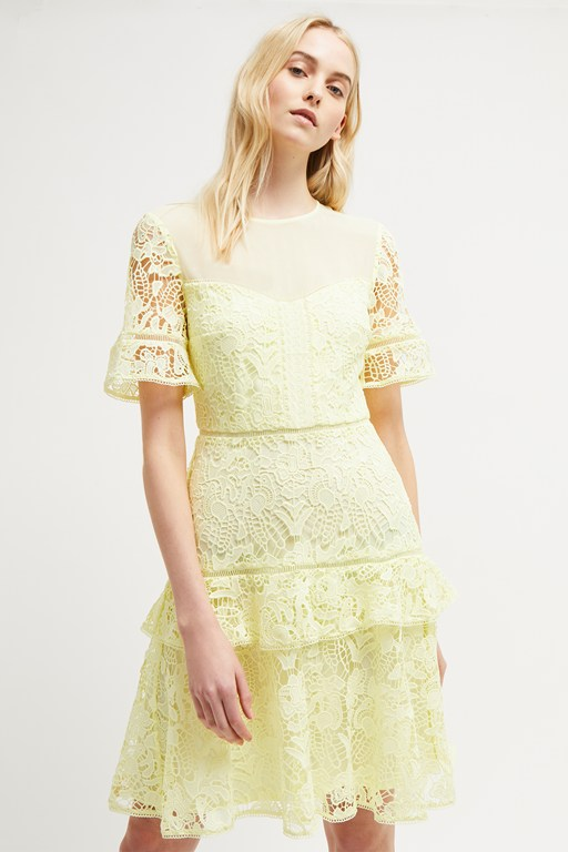 calli lace round neck dress