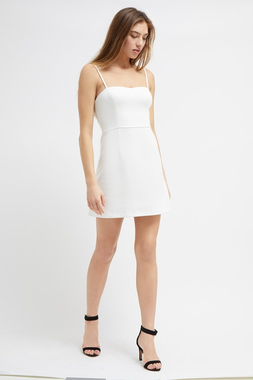 whisper ruth strappy mini dress