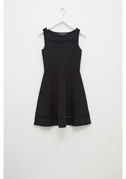 Kai Crepe Knit Fit And Flare Dress