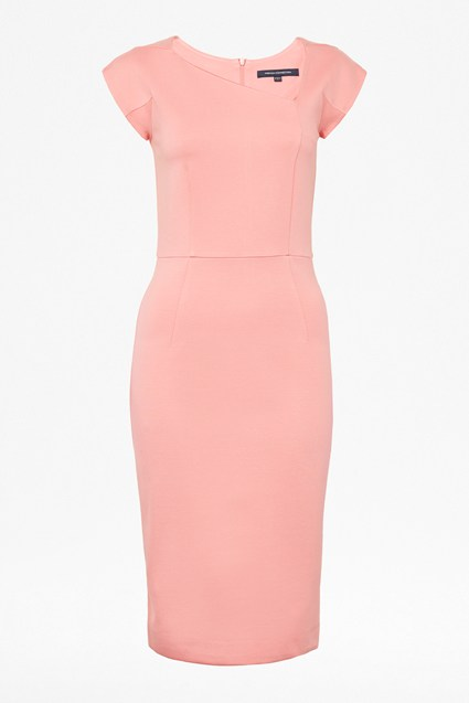 Lula Stretch Slash Neck Bodycon Dress